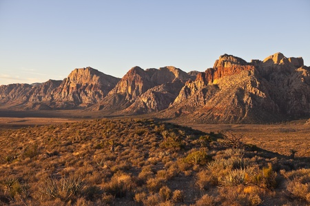 dawn light at red rock national conservation area in southern nevada.